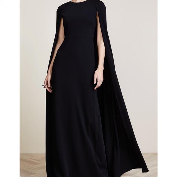 e1e743972da Marchesa notte black cape gown